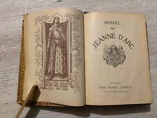 Missel De Jeanne D'Arc N49 1909, Herbier Ancien