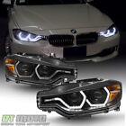 Black [F32 Style] 2012-2015 BMW F30 3-Series Sedan LED DRL Projector Headlights