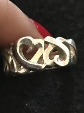 Authentic!! Tiffany & Co. Sterling Silver .925 Paloma Picasso Heart Ring 4.75