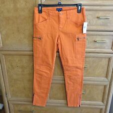 Girls Polo Ralph Lauren orange skinny cargo jeans size 14 brand new NWT $69.50