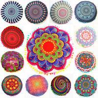 Round Indian Mandala Bohemian Cushion Case Soft Sofa Throw Waist Pillow Cover