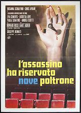 CINEMA-manifesto L'ASSASSINO HA RISERVATO NOVE POLTRONE schiaffino,avram,BENNATI