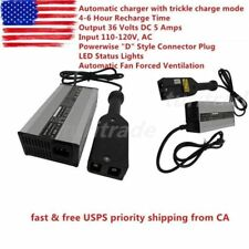 "NEW 36V EZ-GO Powerwise 36 Volt TXT Medalist Golf Cart Battery Charger ""D"" Style"