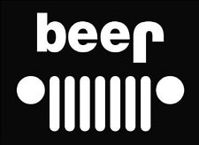"""'BEER' Jeep Decal 4""""x6"""""""