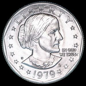 "1979 D Susan B Anthony Dollar US Mint Coin ""Brilliant Uncirculated"" SBA"