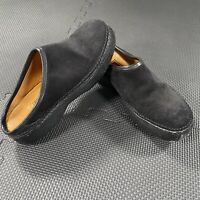 Cole Haan Country Black Suede Leather Slip On Mule Clogs Shoes Womens Sz 7 1/2B