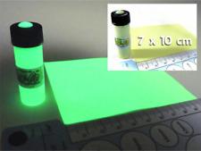 Glow-On  4.6 ml Vial Glow Paint & 7 x 10 cm Glow Film for Electronics