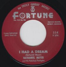 "NATHANIEL MAYER I Had A Dream FORTUNE Re. 45 7"" 1963 Visceral Detroit R&B HEAR"