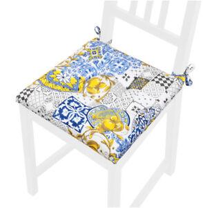Pillow Chair Soft Washable Universal Majolica Lemons Lacing Fixing