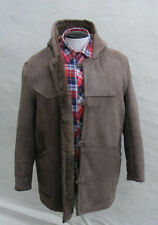 Unbranded Zip Leather Hooded Coats & Jackets for Men