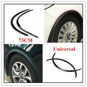 2PCS Car Fender Wheel Eyebrow Protector Strips Carbon Fiber Sticker Parts Trim