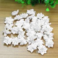 40X Crystal Rhinestone Decor Satin Ribbon Flower Appliques Crafts PMR