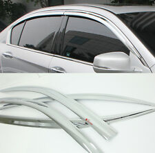 Chrome Door Window Sun Visor Wind Rain Vent 4p 1SET For 2012 2014 Honda Accord