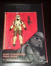 """STAR Wars SCARIF Stormtrooper CAPOSQUADRA NERO SERIE 3.75"""" Rogue uno WALMART"""