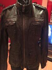 Superdry Ramona Women's LeatherJacket Sz:M D-Brown