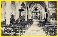 cpa France 77 - CHAILLY en BIÈRE en 1907 Intérieur de l'ÉGLISE SAINT PAUL