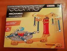 RARE GEOMAG MECHANICS SET 816, 81 PIECES NEW & SEALED NEW MAGNETIC GEAR SYSTEM