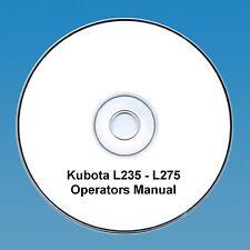 KUBOTA TRACTOR OPERATORS MANUAL L235 L275 L235DT L275DT