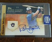 2020 Topps Archives Signature Series Robin Yount Auot #1/1 True One Of A Kind...
