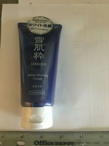 New sealed Kose SEKKISUI White Washing Cream Facial wash Cleanser 80 g / 2.7 oz
