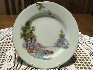 VINTAGE PALE GREEN AYNSLEY BREAD AND BUTTER PLATE