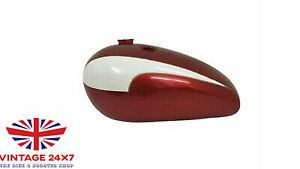 TRIUMPH T140 CHERRY CREAM PAINTED OIL IN FRAME GAS PETROL TANK   Fit For