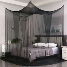 Mosquito Four Corner Post Bed Canopy Net Tent Mesh Netting Queen King Size Cot