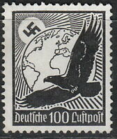 Stamp Germany Mi 537x Sc C54 1934 War Fascism War Airmail Occupation MNH
