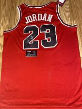 Michael Jordan Autographed RED Bulls ROOKIE Style '84 jersey signed With COA.
