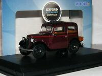Oxford Diecast 43RUB001 1934 Austin Seven Ruby Saloon Maroon 1/43