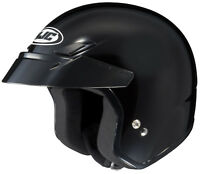 HJC Adult CS-5N Solid Black 3/4 Open Face Motorcycle Helmet DOT
