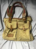 Marc Jacobs Canvas Leather Cargo Army Military Tote Purse Distressed