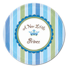 NEW LITTLE PRINCE SMALL PAPER PLATES (8) ~ Baby Shower Party Supplies Dessert