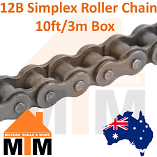 "INDUSTRIAL ROLLER CHAIN 12B-1 - 3/4"" PITCH SIMPLEX 10Ft 3m Box 12B"