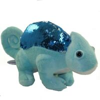 Adventure Planet Sequinimals Plush - CHAMELEON (Sequin - Blue & Silver) (15 inch
