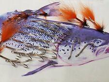NEW size 4 SALMON PREDATORS FLY TYING DOUBLE HOOKS 25 NICKEL SILVER FISHING