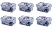 6 X LOCK AND & LOCK PLASTIC FOOD STORAGE CONTAINER 180ML HPL805