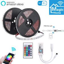 10M RGB LED Wifi Strip Light Smart Home App for Alexa Google Home 2x 5M 12V 5A