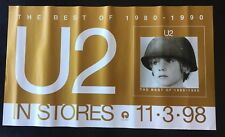 U2 Poster In Stores 11•3•98 Best of 1980-1990 Promo 14x24 N/Mint
