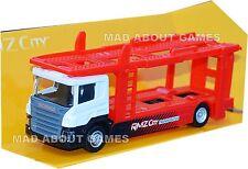 SCANIA CAR TRANSPORTER TRUCK 1:64 Lorry Carrier Trailer Model Miniature Die Cast