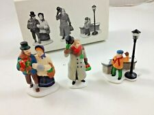 """Dept 56 Dickens Village Accessories """"A Christmas Carol Morning"""" Set of 3 5588-3"""