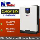 2400w 24V 110Vac Solar Inverter + 60A battery charger + 80A MPPT solar charger