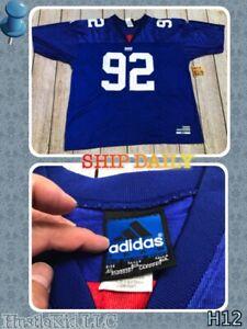Vintage Adidas MICHAEL STRAHAN 92 NY NEW YORK GIANTS Football Men Jersey 2XL XXL