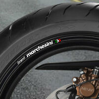 8 X Marchesini Forged Wheel Rim Stickers Decals