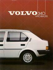 Volvo 340 Series 1984-85 UK Market Sales Brochure DL GL 3-dr 5-dr
