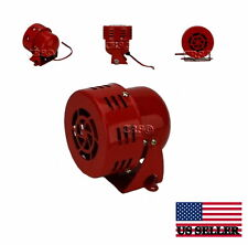 12 VOLT MOTOR DRIVEN SMALL AIR RAID SIREN HORN POLICE FIRE ALARM CAR TRUCK LOUD