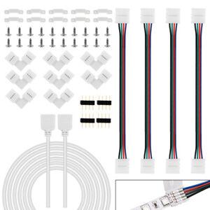 LED Strip Verbinder RGB/LED-Verbinder Streifen 4Pin-Anschluss Kabel Verlängerung