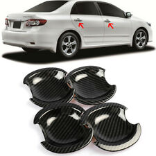 Gloss Carbon Fiber Dipping Print Plastic Handle Bowl Cover Cup For 02-06 Camry