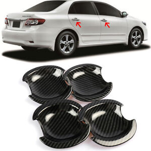 Carbon Fiber Dipping Print Plastic Handle Bowl Cover Cup For 03-13 Corolla