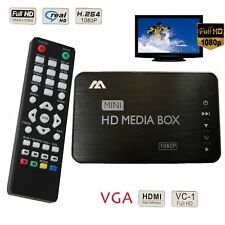 FHD 1080P Media Player HDMI SD MMC MKV USB VGA Support 2TB External Hard Drive
